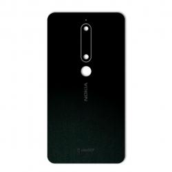 برچسب تزئینی ماهوت مدل Black-suede Special مناسب برای گوشی  Nokia 6/1 (بی رنگ)