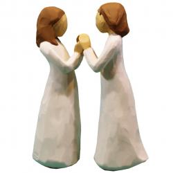 مجسمه امین کامپوزیت مدل Sisters By Heart کد 132