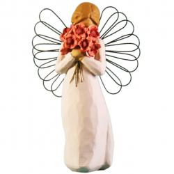 مجسمه امین کامپوزیت مدل فرشته احاطه باعشق کد 125/1 (کرم)