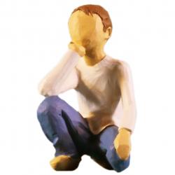 مجسمه امین کامپوزیت مدل کودک کنجکاو کد 44 (چند رنگ)