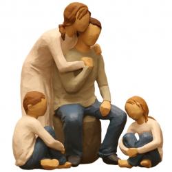مجسمه امین کامپوزیت مدل Family Grouping کد 504 بسته 3 عددی