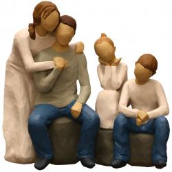 مجسمه امین کامپوزیت مدل Family Grouping کد 545 بسته دو عددی
