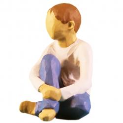 مجسمه امین کامپوزیت مدل کودک مراقب کد 56