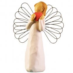 مجسمه امین کامپوزیت مدل فرشته قلب کد 20/1 (کرم)