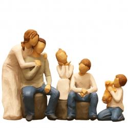 مجسمه امین کامپوزیت مدل  Family Grouping  کد 509 بسته 3 عددی