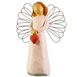 مجسمه امین کامپوزیت مدل فرشته انتظار کد 24/1 (کرم)