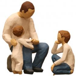 مجسمه امین کامپوزیت مدل Family Grouping کد 507 بسته 2 عددی (چند رنگ)
