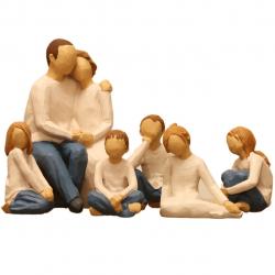 مجسمه امین کامپوزیت مدل گروه خانوادگی کد 500 بسته 6 عددی (چند رنگ)