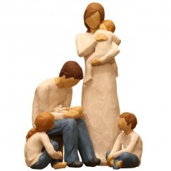 مجسمه امین کامپوزیت مدل Family Grouping کد 505 بسته 4 عددی