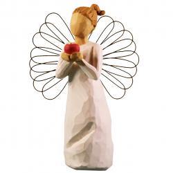 مجسمه امین کامپوزیت مدل فرشته تو بهترینی کد 124/1 (کرم)