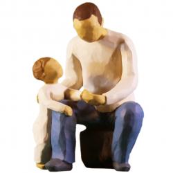 مجسمه امین کامپوزیت مدل پدربزرگ کد 35 (چند رنگ)