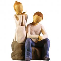 مجسمه امین کامپوزیت مدل برادروخواهر کد 72 (چند رنگ)