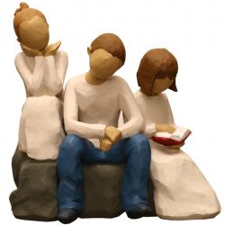 مجسمه امین کامپوزیت مدل Family Grouping کد 536 بسته دوعددی (چند رنگ)