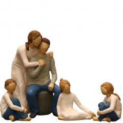 مجسمه امین کامپوزیت مدل Family Grouping کد 572 بسته 4 عددی