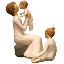 مجسمه امین کامپوزیت مدل Family Grouping کد546 بسته دو عددی (کرم)