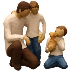 مجسمه امین کامپوزیت مدل Family Grouping کد 550 بسته دوعددی (چند رنگ)