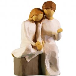 مجسمه امین کامپوزیت مدل مادربزرگ کد 25 (کرم)