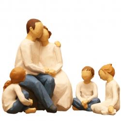 مجسمه امین کامپوزیت مدل  Family Grouping  کد 508 بسته 4 عددی