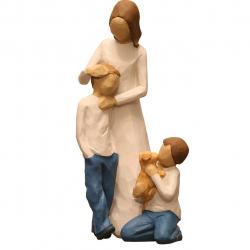 مجسمه امین کامپوزیت مدل Family Grouping کد528 بسته دوعددی (چند رنگ)