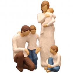 مجسمه امین کامپوزیت مدل Family Grouping کد 562 بسته3 عددی