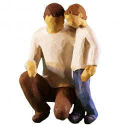 مجسمه امین کامپوزیت مدل پدروپسر کد 74