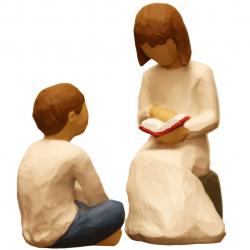 مجسمه امین کامپوزیت مدل Family Grouping کد 521 بسته 2 عددی