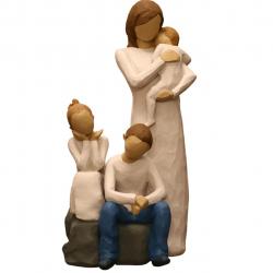 مجسمه امین کامپوزیت مدل Family Grouping کد534 بسته دوعددی (چند رنگ)