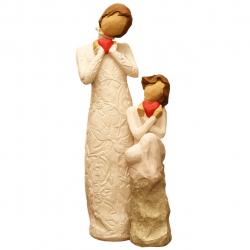 مجسمه امین کامپوزیت مدل Family Grouping کد 518 بسته 2 عددی (کرم)