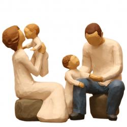 مجسمه امین کامپوزیت مدل Family Grouping کد 502 بسته 2 عددی