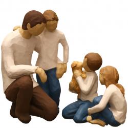 مجسمه امین کامپوزیت مدل Family Grouping کد 563 بسته 3 عددی (چند رنگ)