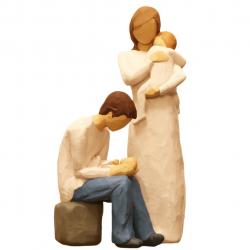 مجسمه امین کامپوزیت مدل Family Grouping کد 517 بسته 2 عددی (چند رنگ)