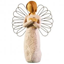مجسمه امین کامپوزیت مدل فرشته یادگاری کد 120/1 (کرم)