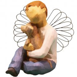 مجسمه امین کامپوزیت مدل فرشته آسایش کد 134/1