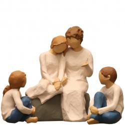 مجسمه امین کامپوزیت مدل Family Grouping کد 557 بسته 3 عددی (چند رنگ)