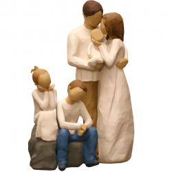 مجسمه امین کامپوزیت مدل Family Grouping کد535 بسته دوعددی (چند رنگ)