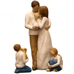 مجسمه امین کامپوزیت مدل Family Grouping کد 566 بسته 3 عددی (چند رنگ)
