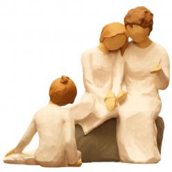 مجسمه امین کامپوزیت مدل Family Grouping کد 523 بسته 2 عددی