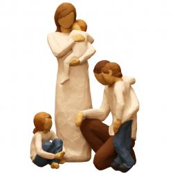 مجسمه امین کامپوزیت مدل Family Grouping کد 515 بسته 3 عددی