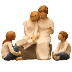مجسمه امین کامپوزیت مدل Family Grouping کد 503 بسته 3 عددی (چند رنگ)