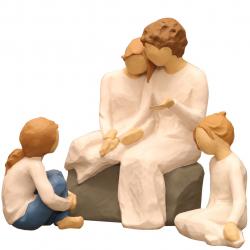 مجسمه امین کامپوزیت مدل Family Grouping کد 556 بسته 3 عددی (چند رنگ)