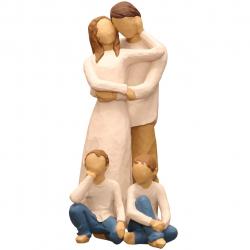 مجسمه امین کامپوزیت مدل Family Grouping کد 558 بسته 3 عددی (چند رنگ)