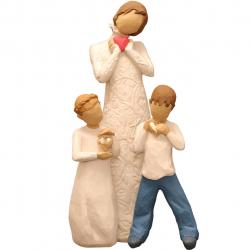مجسمه امین کامپوزیت مدل Family Grouping کد 561 بسته 3 عددی