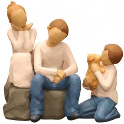 مجسمه امین کامپوزیت مدل Family Grouping کد 537 بسته دوعددی (چند رنگ)