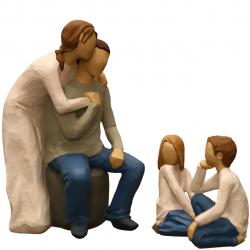 مجسمه امین کامپوزیت مدل Family Grouping کد 564 بسته 3 عددی