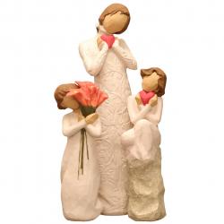 مجسمه امین کامپوزیت مدل Family Grouping کد 567 بسته 3 عددی