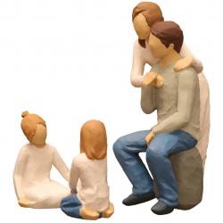 مجسمه امین کامپوزیت مدل Family Grouping کد 568 بسته 3 عددی (چند رنگ)