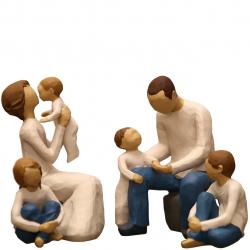 مجسمه امین کامپوزیت مدل Family Grouping کد 570 بسته 4 عددی