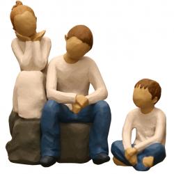 مجسمه امین کامپوزیت مدل Family Grouping کد533 بسته دوعددی
