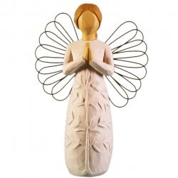 مجسمه امین کامپوزیت مدل فرشته درخت عبادت کد 121/1 (کرم)