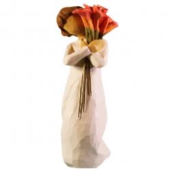 مجسمه امین کامپوزیت مدل شکوفه کد 96 (کرم)